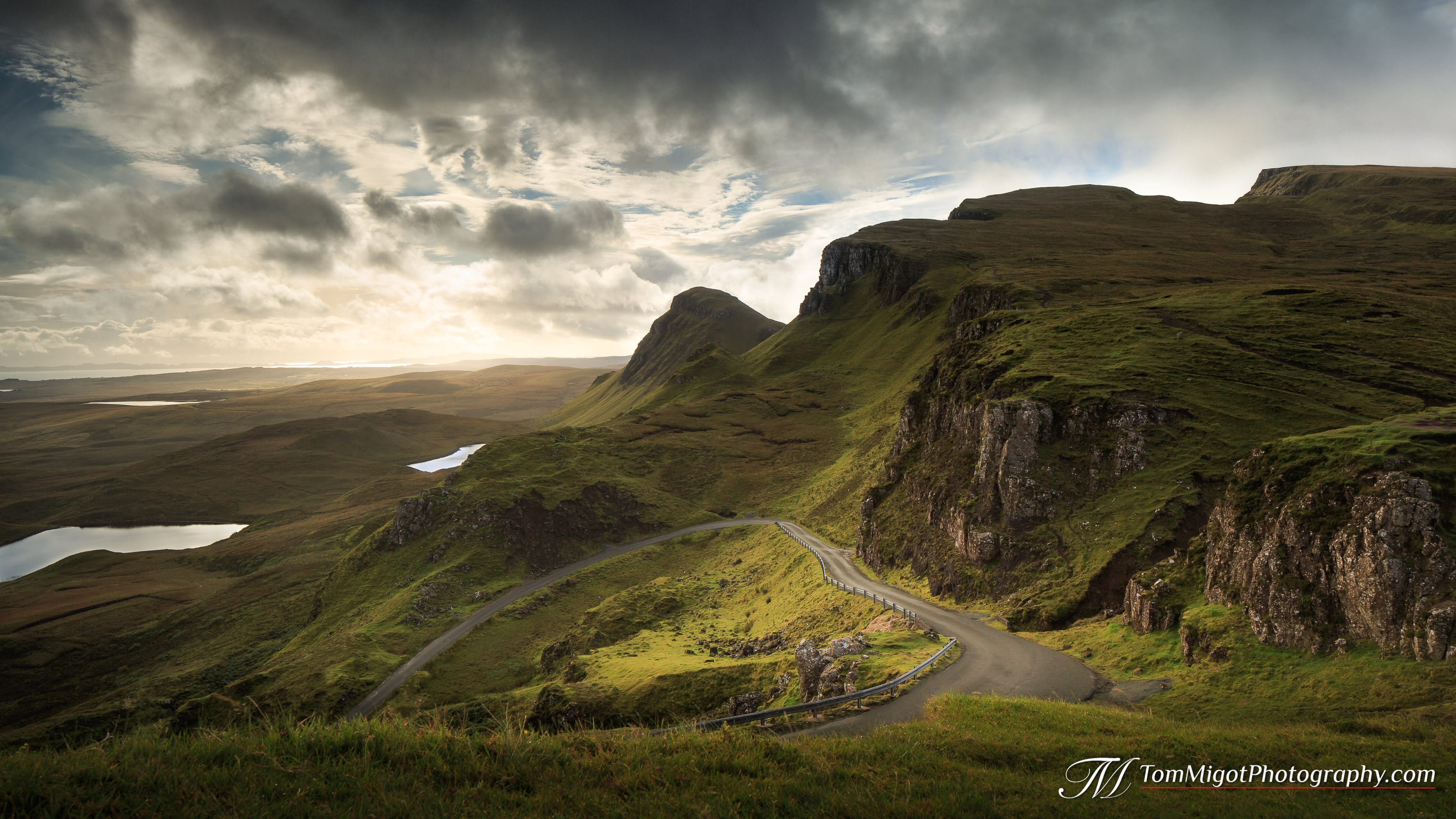 Heart of the Quiraing on the Isle of Skye in Scotland