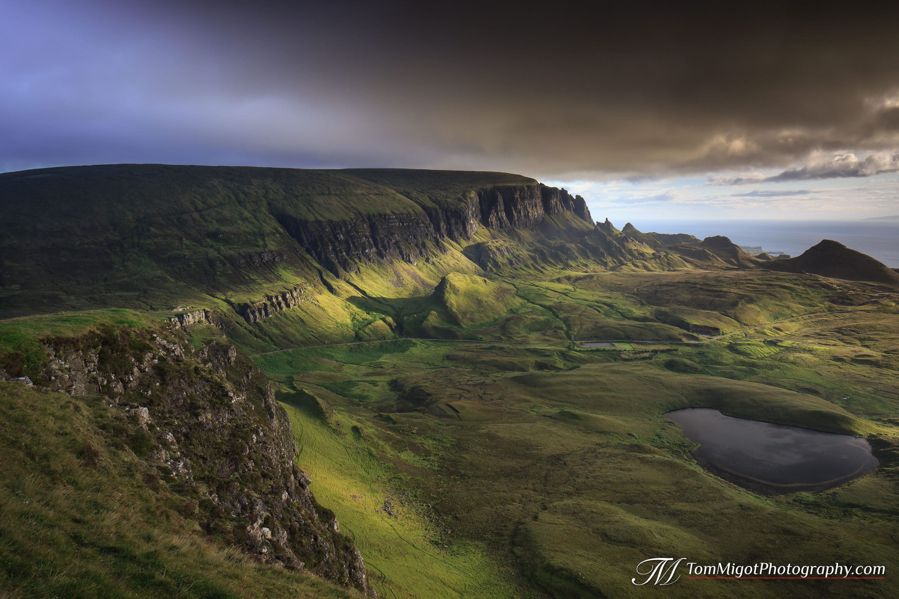 sunrise on the quiraing on the isle of skye in scotland