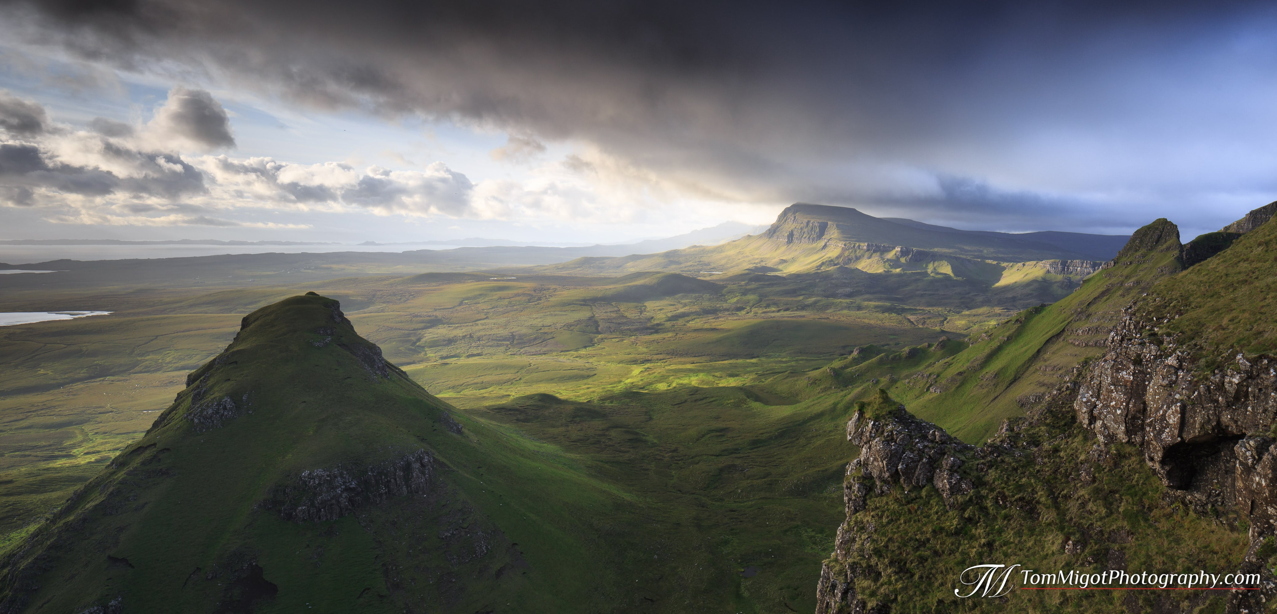 sunrise on Beinn Edra on the isle of skye in scotland