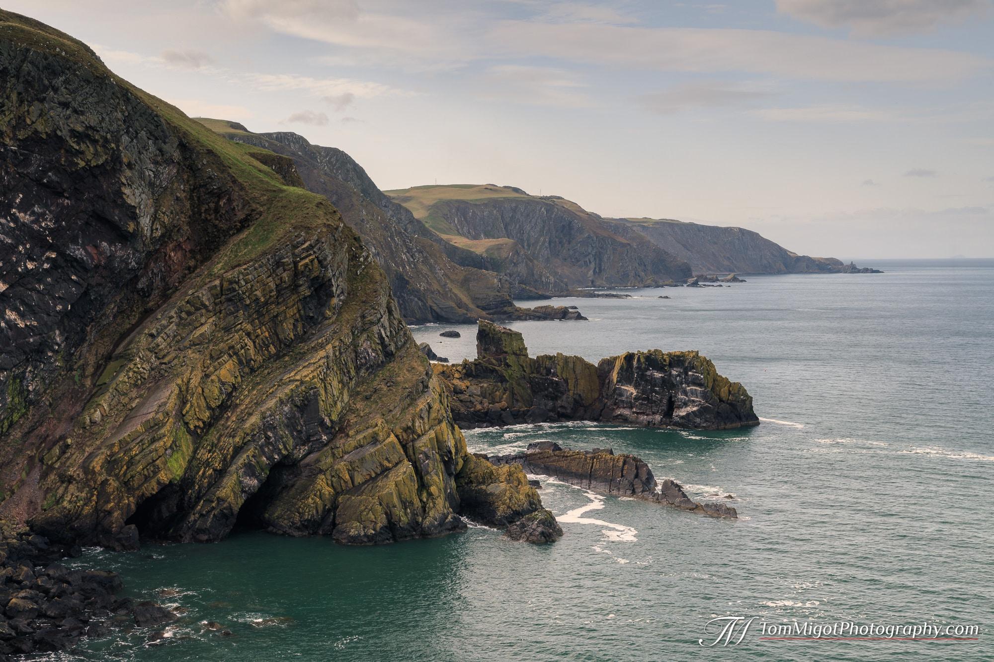 Formation rocheuse intéressante sur la côte des Scottish Borders