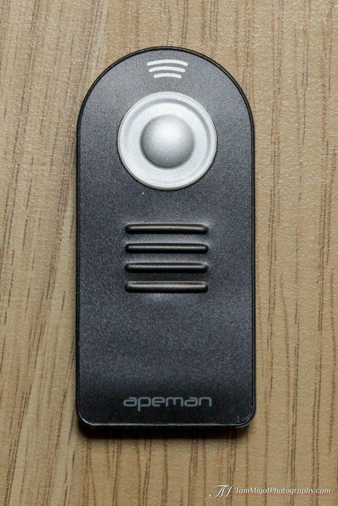 La télécommande infrarouge de Apeman