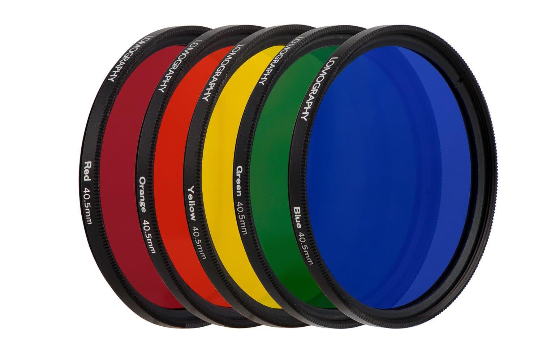 Filtres de couleur pour le Daguerreotype Achromat de chez Lomography
