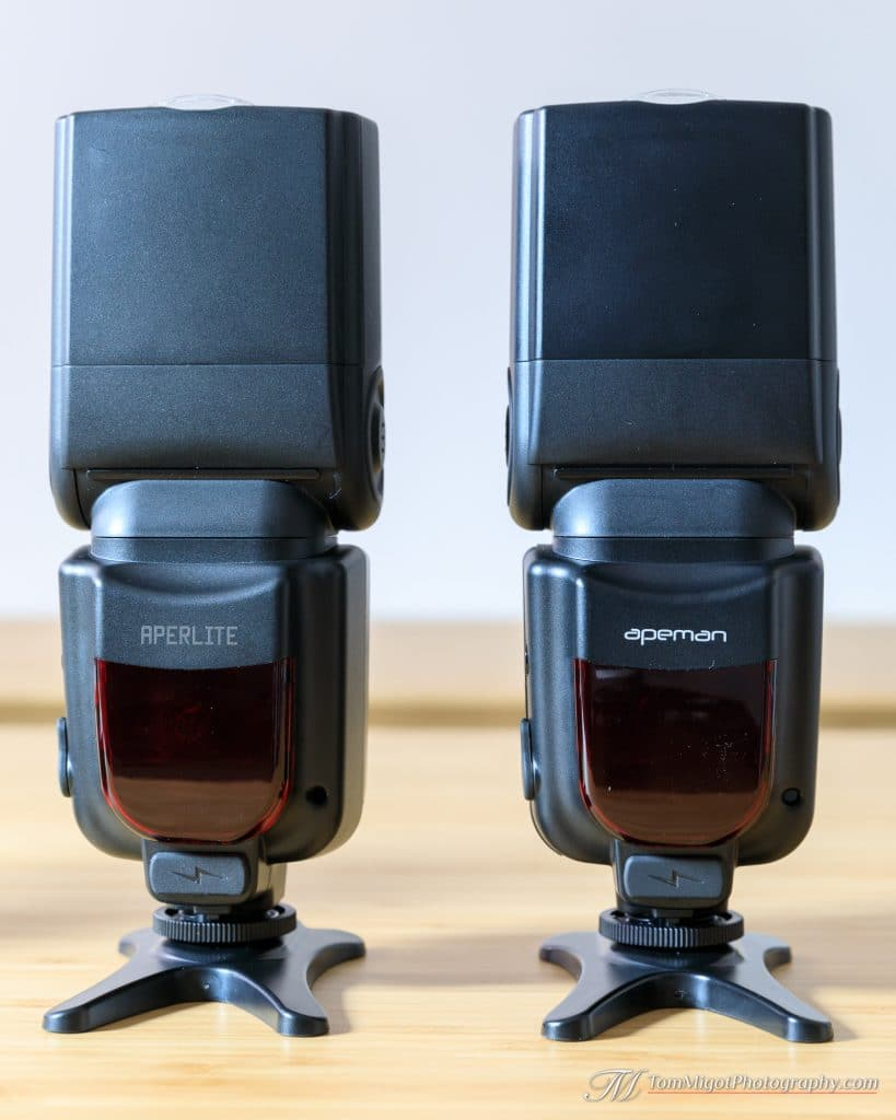 Devant des flash Apeman SL350 & Aperlite YH-500C