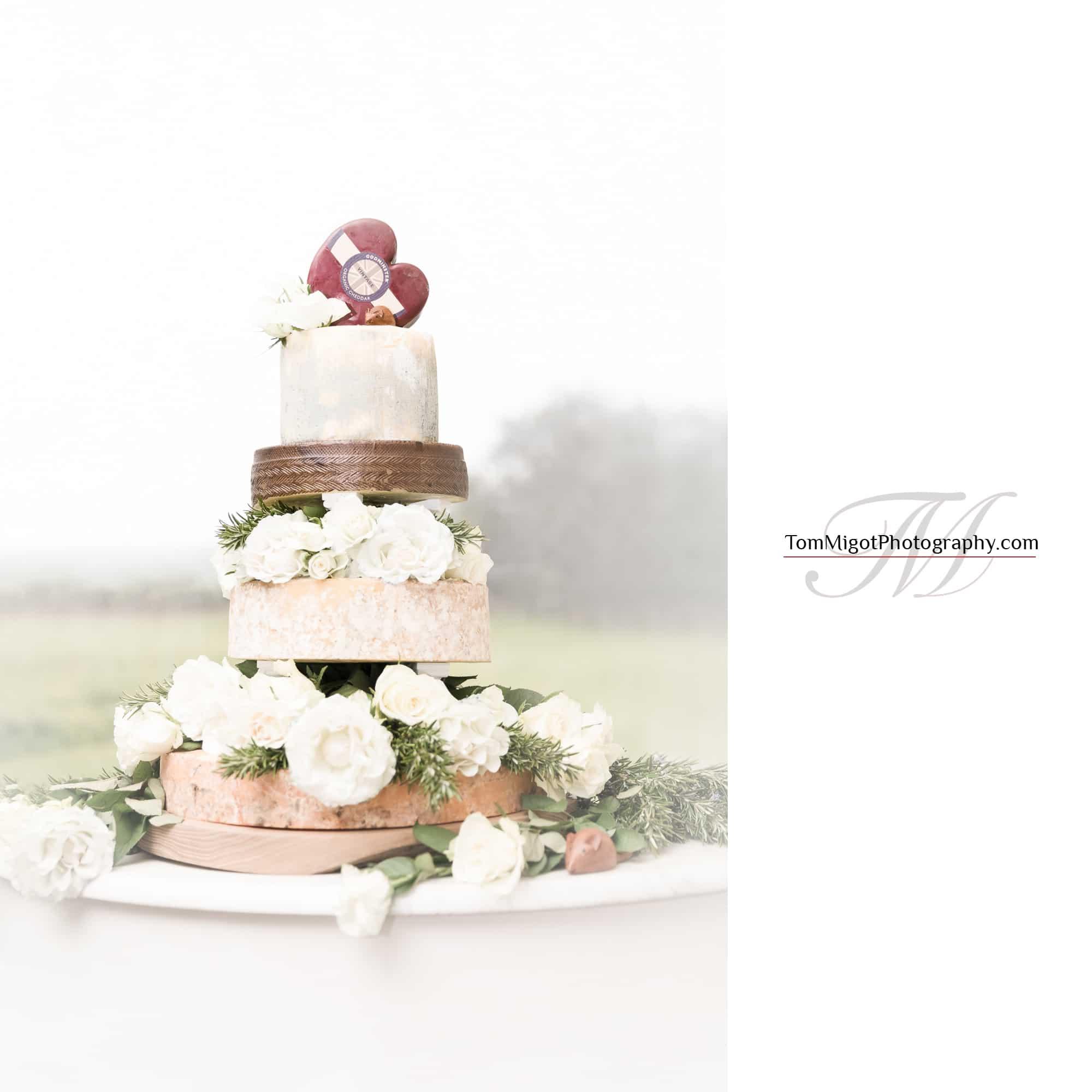 Le gâteau de mariage original au fromage