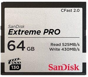 La carte CFast Sandisk 64Go