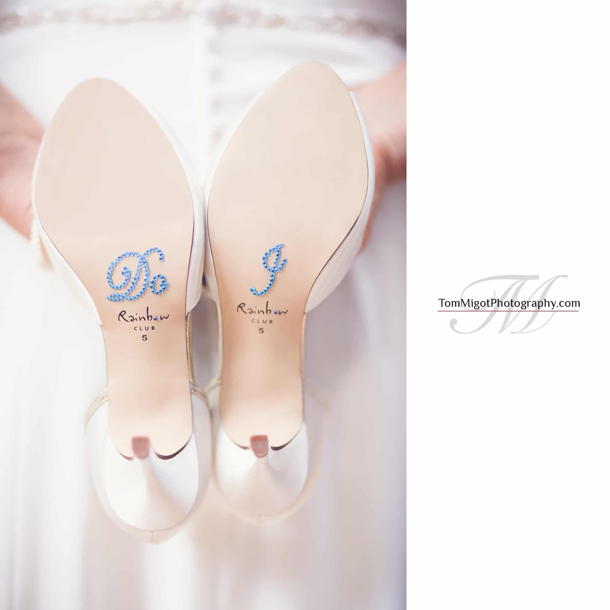 Photo des chaussures de la marié aprés triatement dans PS et LR