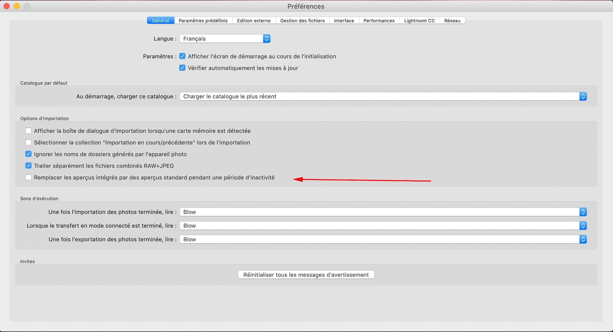 Remplacer les aperçus intégrés par des aperçus standard automatiquement