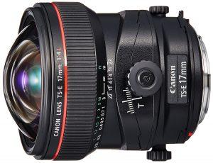 Objectif Tilt Shift Canon 17mm TSE L F4