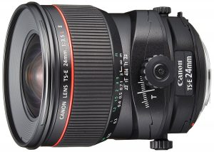 Objectif Tilt Shift Canon 24mm TSE L F3.5