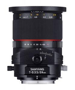Objectif Tilt Shift Samyang 24mm T-S F3.5