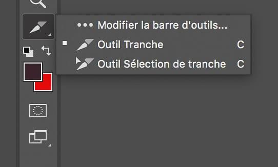 Sélectioner un outil supplémentaire depuis la barre d'outils dans Photoshop