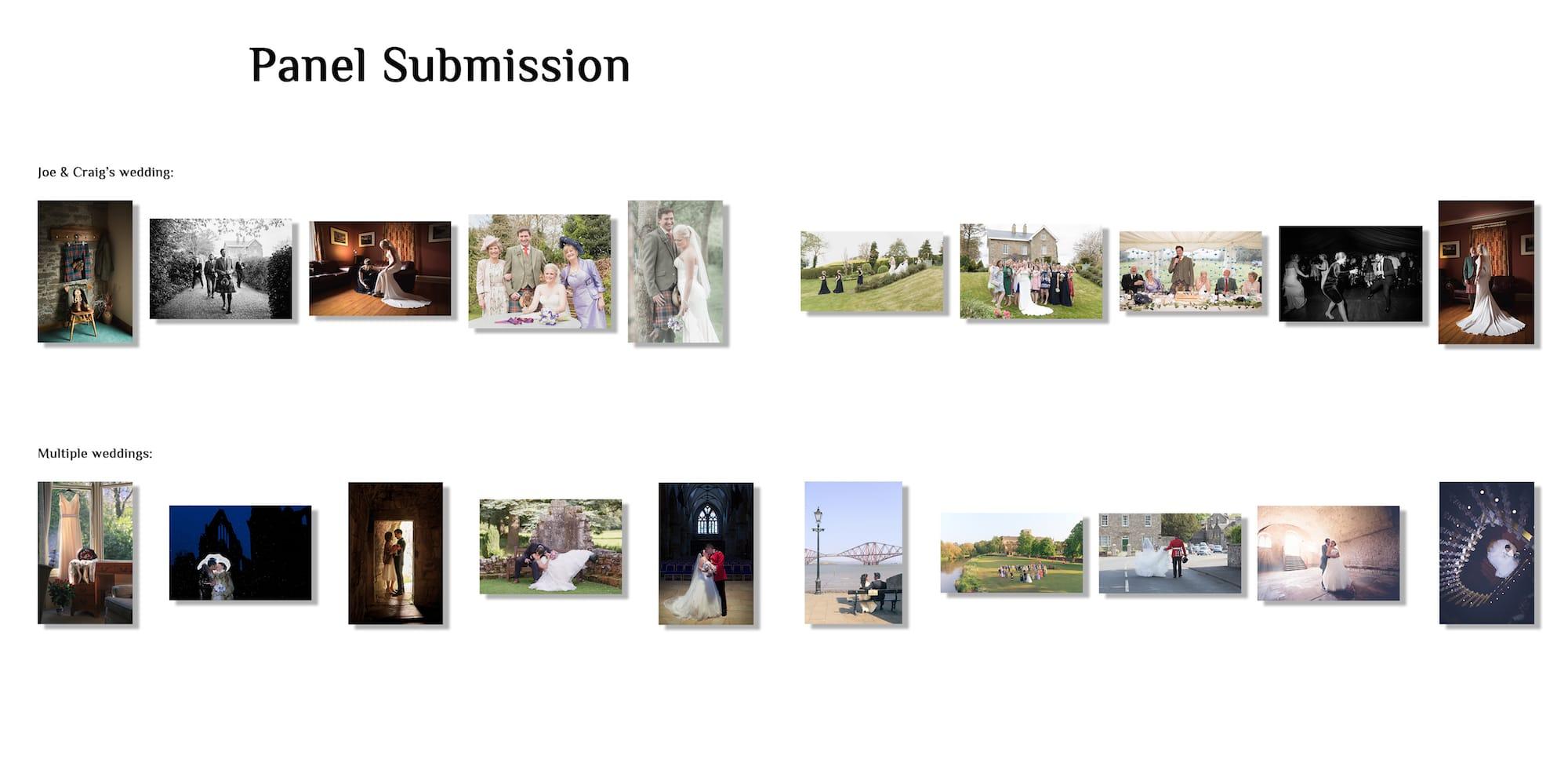 Le paneau de 20 photos pour la qualification du Licentiate Master Photographer
