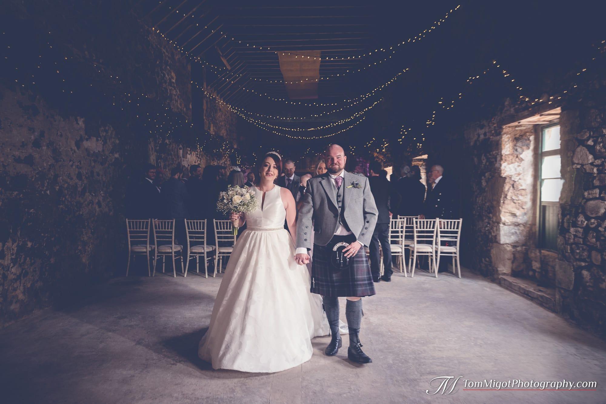 Les mariés à la fin de la ceremonie
