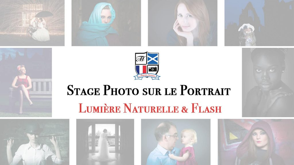 stage photo sur le portrait en lumpier naturelle et au flash