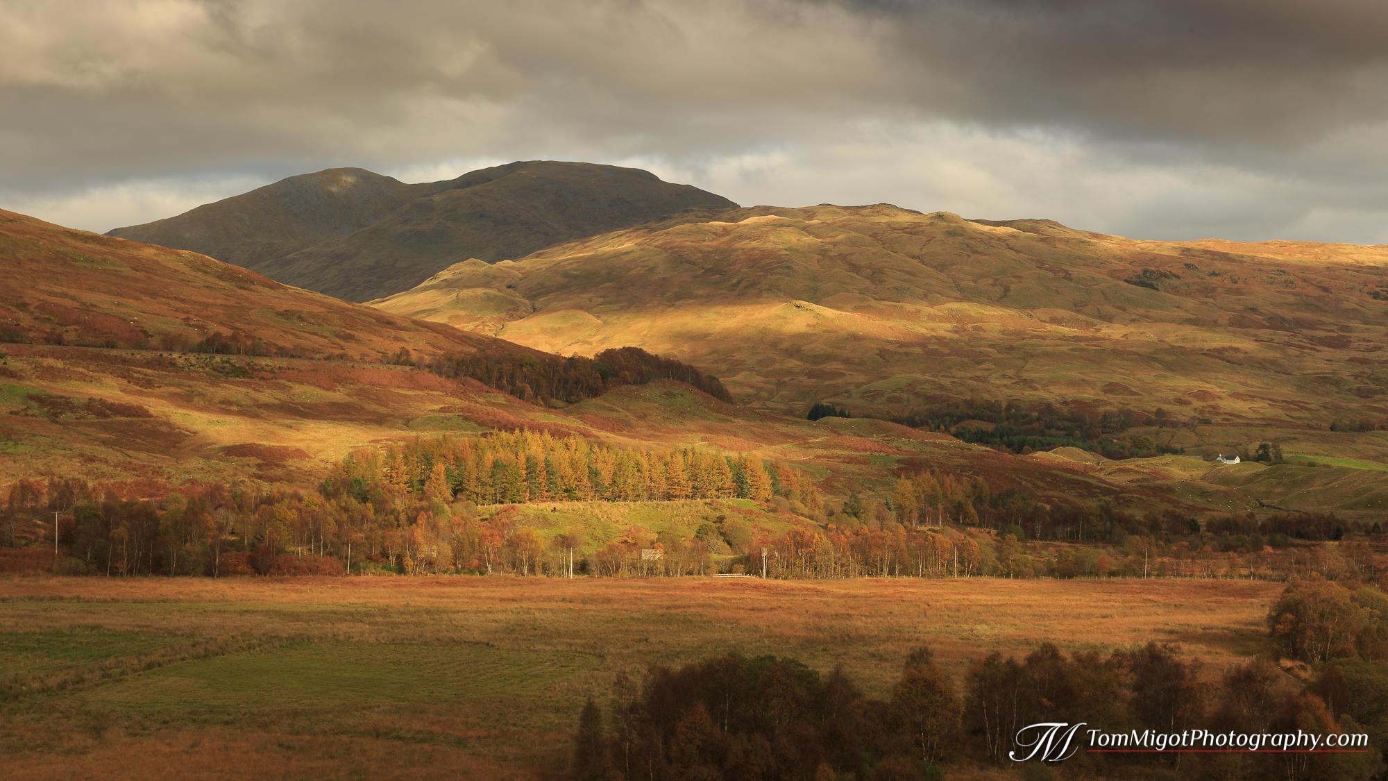 Le parc national du Loch Lomond et des Trossachs en Ecosse photographié à l'automne