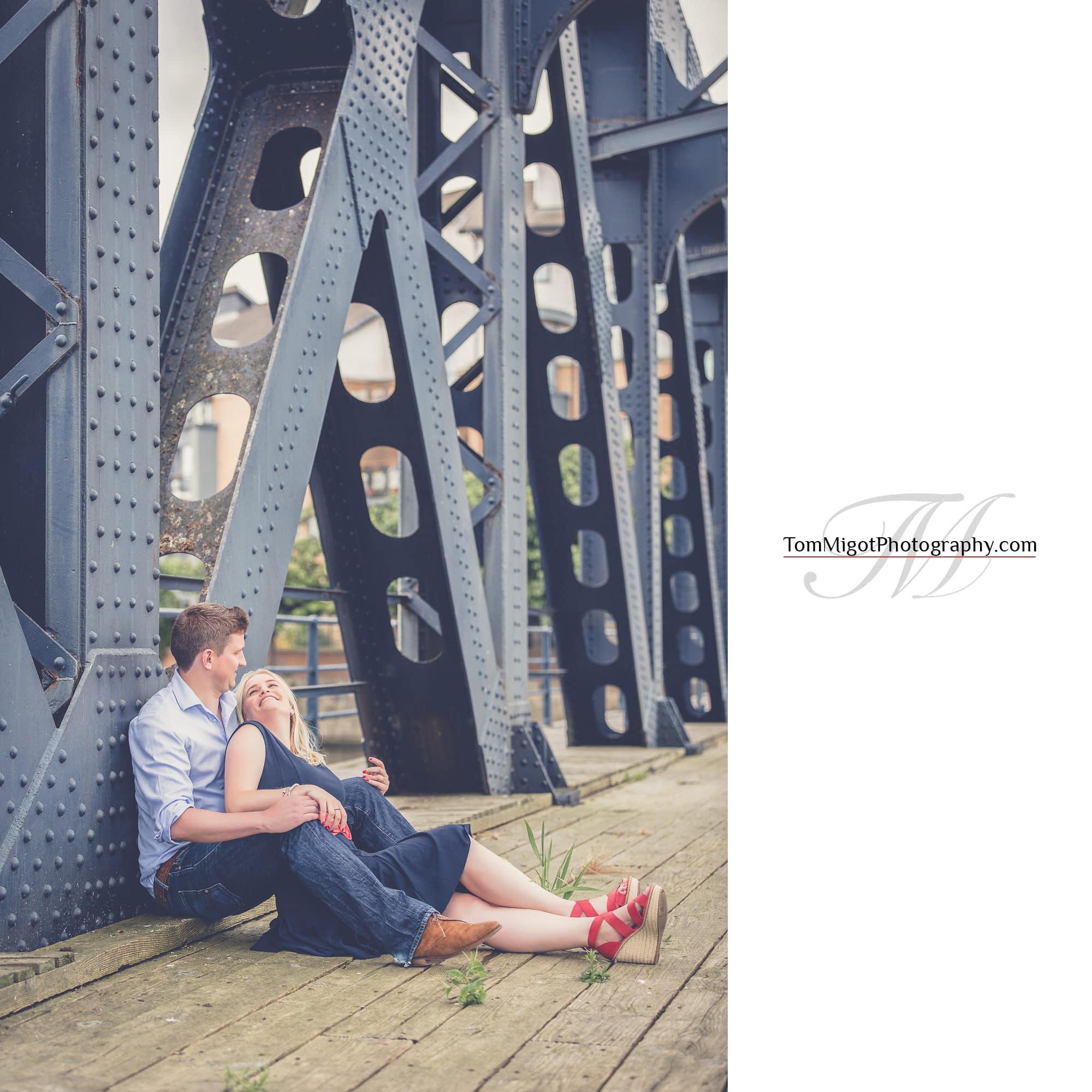 Séance d'avant mariage dans Leith près d'Edimbourg en Ecosse