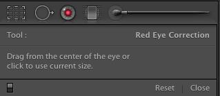 Correction des yeux rouges dans LR