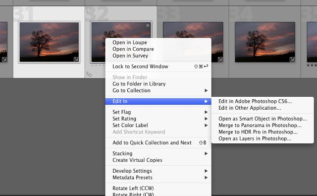 Appliquer les effets HDR ou autres de Photoshop à partir de LR