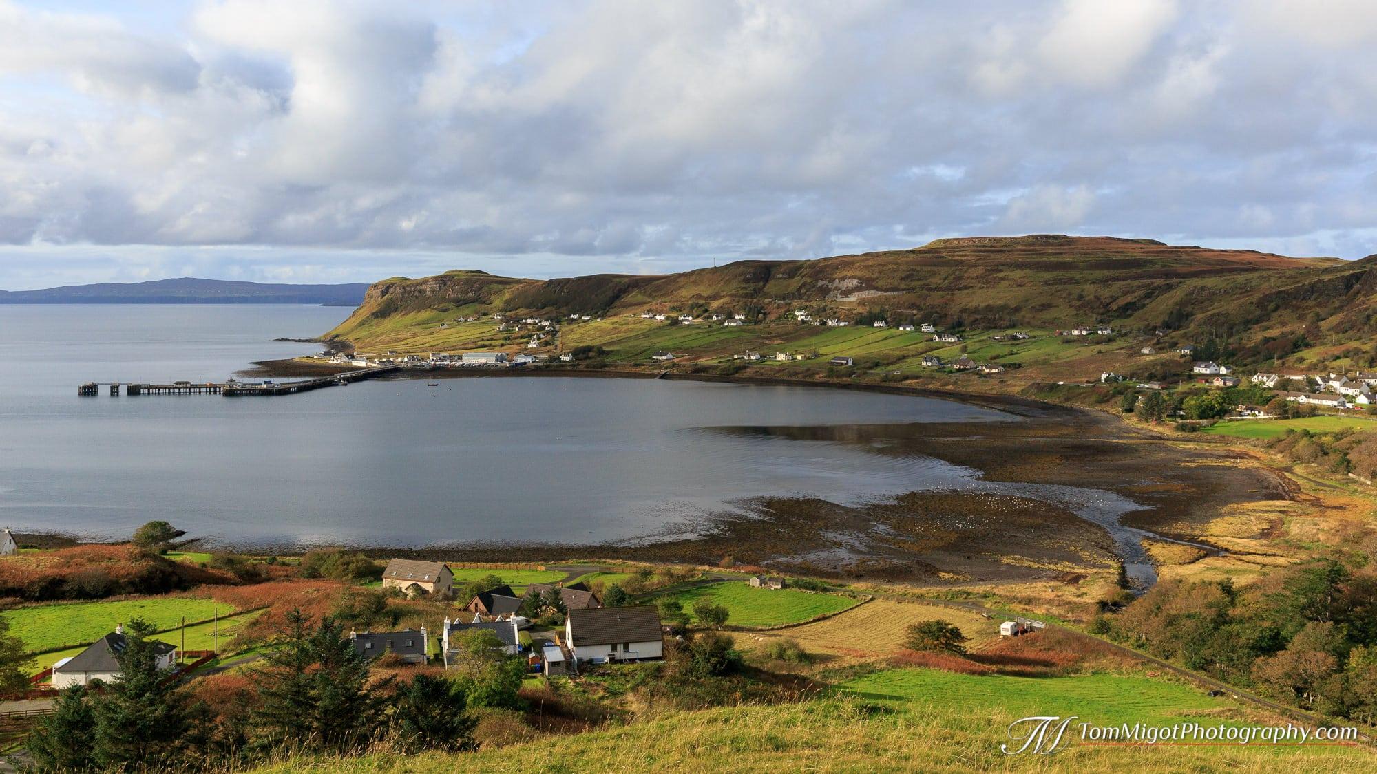 La baie de Uig sur l'Ile de Skye en Ecosse photographiée à l'automne