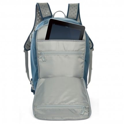 iPad fits in the Lowepro Flipside Sport 20L AW bag pack