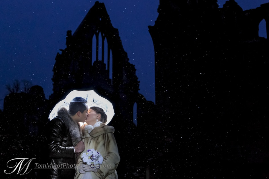 Amazing wedding photograph taken at the dryburgh Abbey in scotland