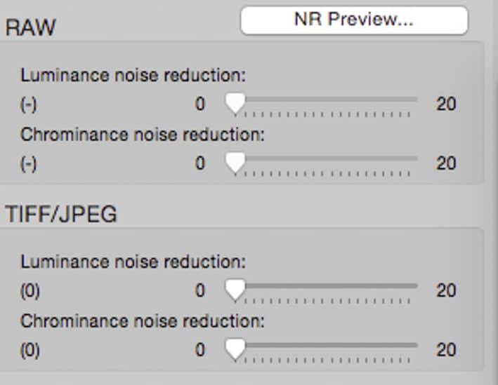 Réduction du bruit dans Canon DPP