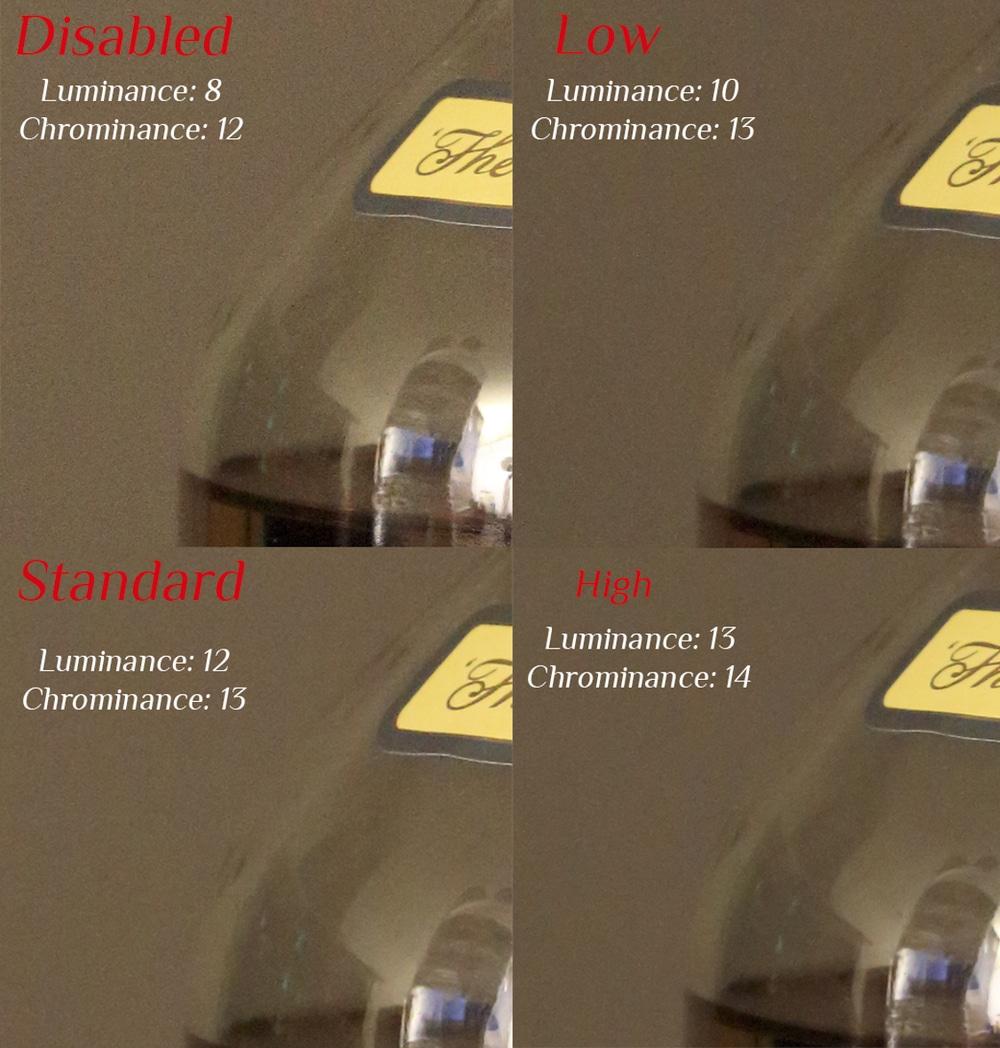 La Réduction du bruit par Canon dans le fichier RAW